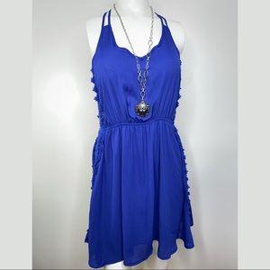 JELLA COUTURE Side Lace Crisscross Dress